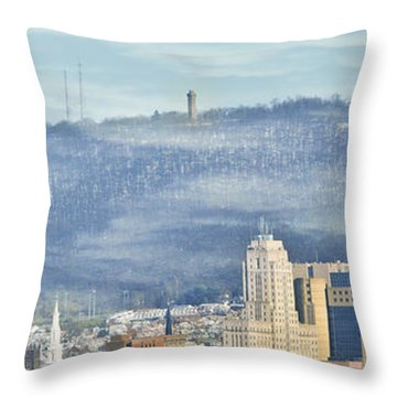 Reading Skyline Throw Pillow