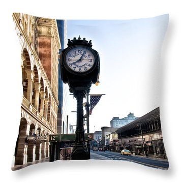 Reading Terminal Clock - Market Street Throw Pillow
