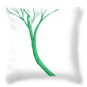 Reading The Signs Of Nature Throw Pillow by Giuseppe Epifani