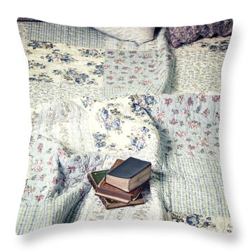 Reading Time Throw Pillow by Joana Kruse
