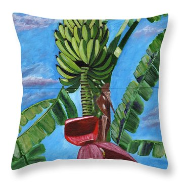 Throw Pillow featuring the painting Ready For Harvest by Laura Forde