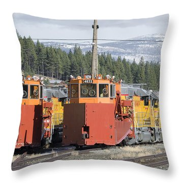 Throw Pillow featuring the photograph Ready For More Snow At Donner Pass by Jim Thompson
