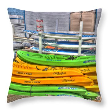 Ready For Summer Throw Pillow by Heidi Smith