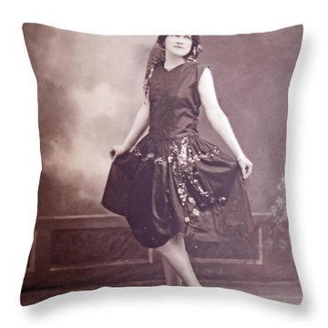 Ready For The Dance Throw Pillow by Barbara McDevitt
