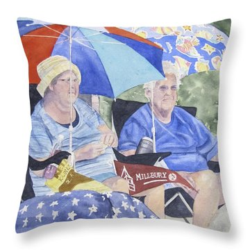 Ready For The Millbury Parade Throw Pillow by Carol Flagg