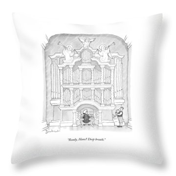 Ready, Hans? Deep Breath Throw Pillow
