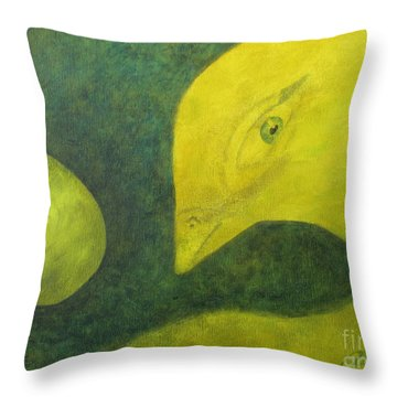 Ready To Emerge Throw Pillow by Denise Hoag