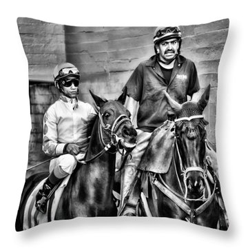 Ready To Race Throw Pillow by Camille Lopez