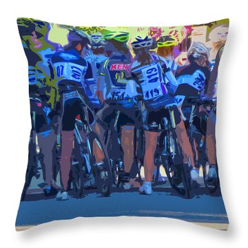 Ready To Race Throw Pillow