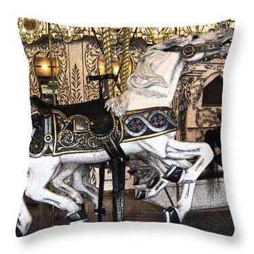 Throw Pillow featuring the photograph Ready To Ride 2 by Jani Freimann