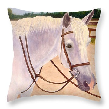 Throw Pillow featuring the painting Ready To Ride by Karen Zuk Rosenblatt