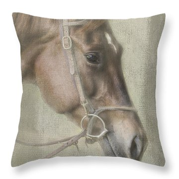 Throw Pillow featuring the photograph Ready To Ride by Linda Blair