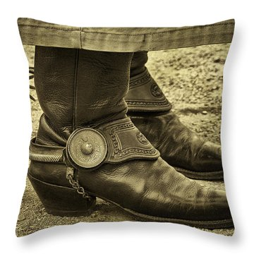 Throw Pillow featuring the photograph Ready To Ride by Priscilla Burgers