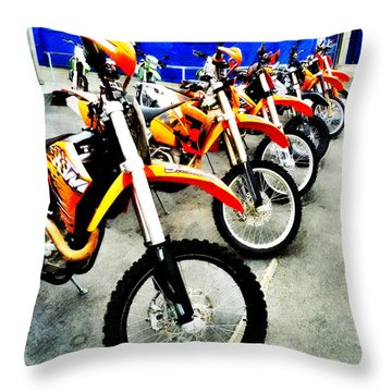 Ready To Ride Throw Pillow by Steve Taylor
