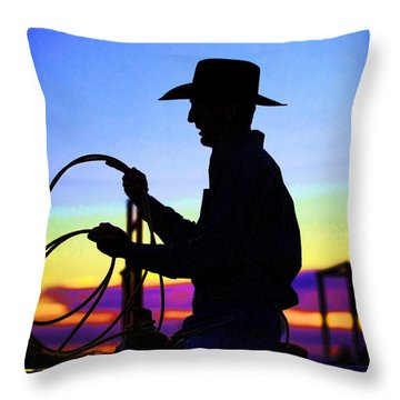 Ready To Rope I Throw Pillow by Toni Hopper