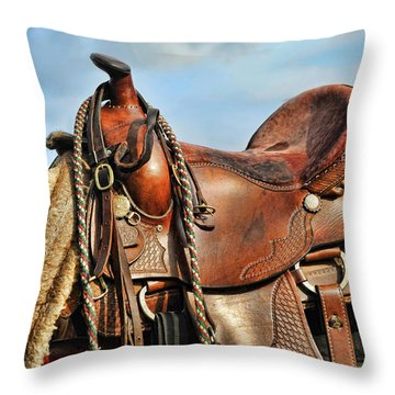 Ready To Saddle Up Throw Pillow