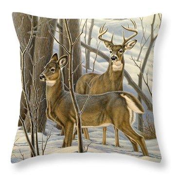Buck Deer Throw Pillows