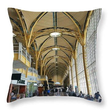 Throw Pillow featuring the photograph Reagan National Airport by Suzanne Stout