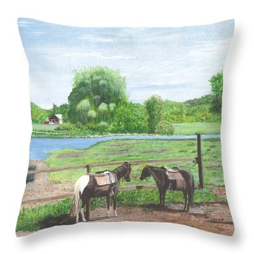 Real Americana Sullivan Cty Ny Throw Pillow by Stuart B Yaeger