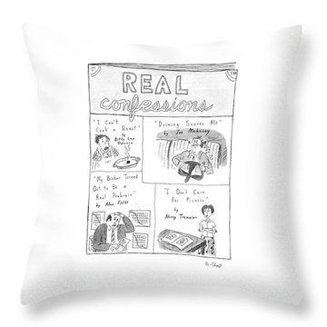 Real Confessions Throw Pillow