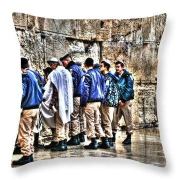 Throw Pillow featuring the photograph Real Homeland Security In Israel by Doc Braham