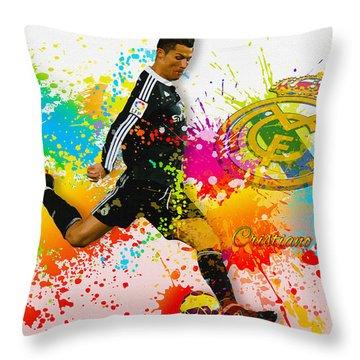 Real Madrid - Portuguese Forward Cristiano Ronaldo Throw Pillow