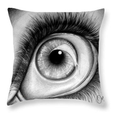 Realistic Eye Throw Pillow