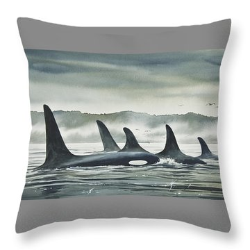 Realm Of The Orca Throw Pillow by James Williamson
