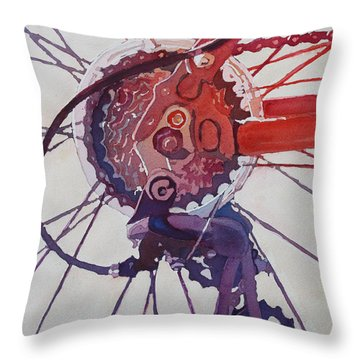 Rear Derailleur Throw Pillow