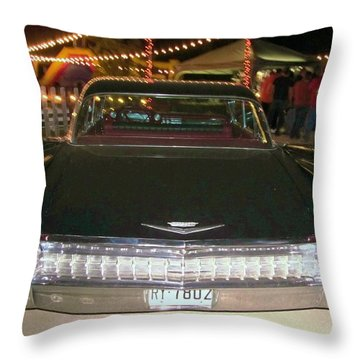 Rear View Black And Chrome Beauty Throw Pillow by Donna Wilson