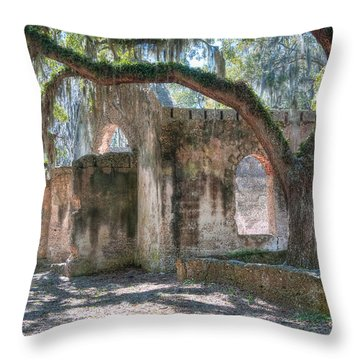 Rear View Of The Chapel Of Ease Throw Pillow