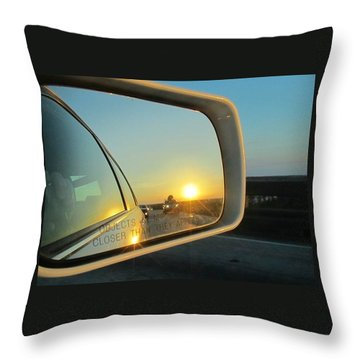 Rear View Sunset Throw Pillow