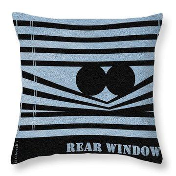 Rear Window Throw Pillow by Ayse Deniz
