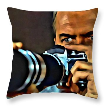 Rear Window Throw Pillow by Florian Rodarte