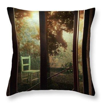 Rear Window Throw Pillow by Taylan Apukovska
