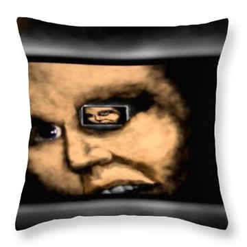 Rearview. Throw Pillow