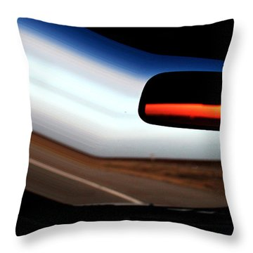 Rearview Sunset Throw Pillow