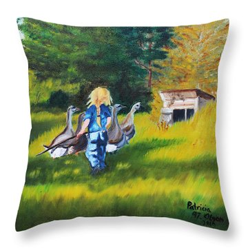 Rebecca Throw Pillow by Patricia Olson