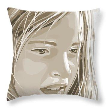 Rebecca Throw Pillow by Veronica Minozzi