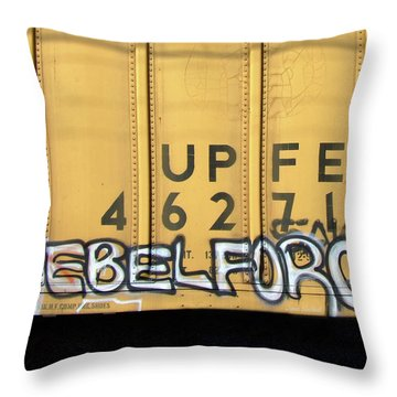 Rebel Force Throw Pillow by Donna Blackhall