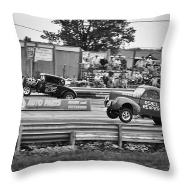Rebel Reaper Wheelstand Throw Pillow by Dennis Hedberg