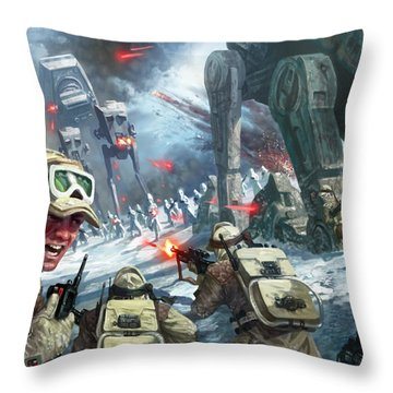 Rebel Rescue Throw Pillow by Ryan Barger