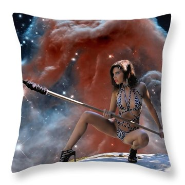 Rebel Warrior Throw Pillow