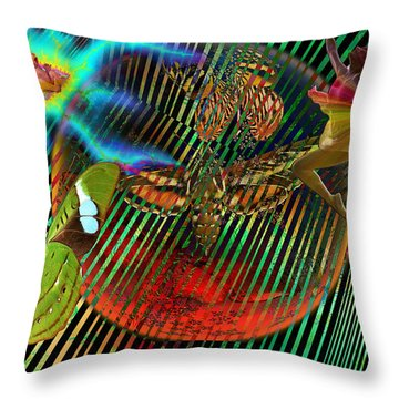 Rebirth Of Life Throw Pillow