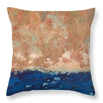 Receding Floodwaters Throw Pillow