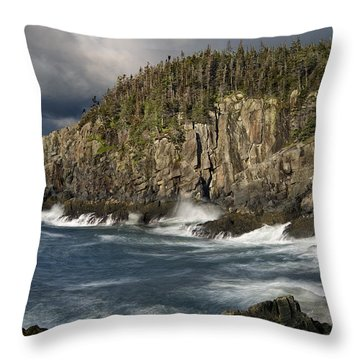 Receding Storm At Gulliver's Hole Throw Pillow
