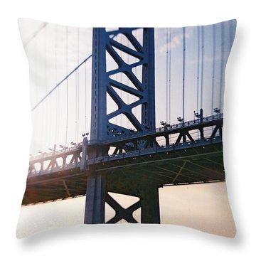 Recesky - Ben Franklin Bridge Throw Pillow