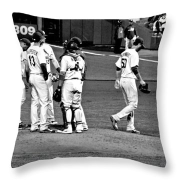 Recharging The Battery Throw Pillow by Eric Tressler
