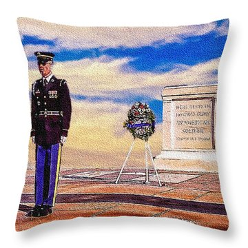 Recitation Of The Requirements Of Honor Guards Throw Pillow