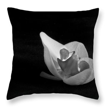 Reclining Orchid Throw Pillow